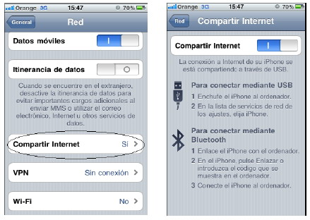 Tethering con iPhone y Orange: guía de activación