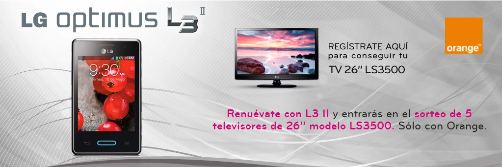 Consigue una televisión de 26 pulgadas con  tu LG Optimus L3