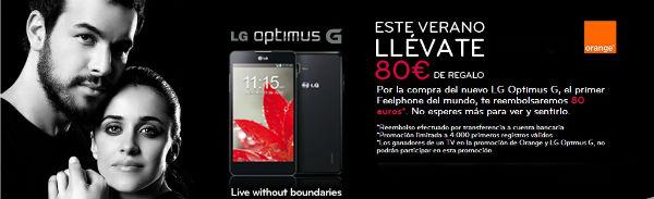 Consigue 80 euros con tu LG Optimus G
