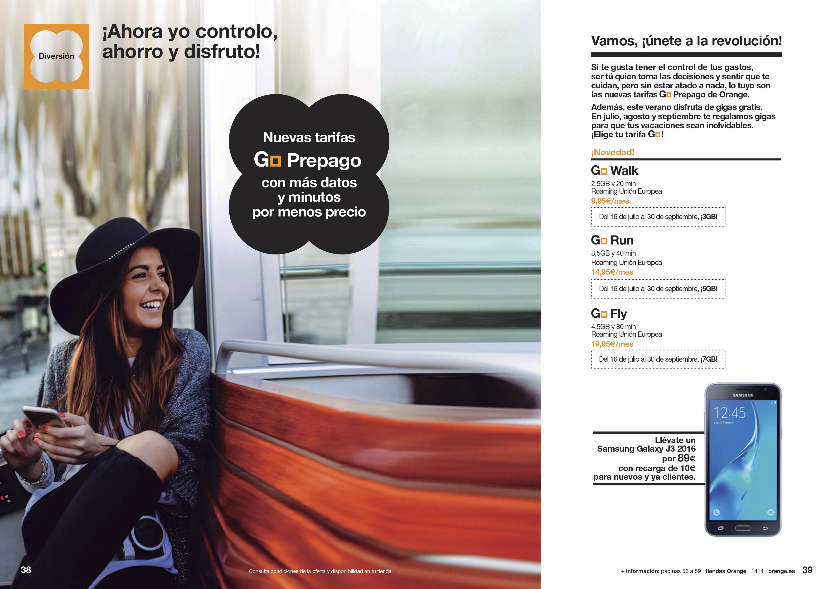 Orange lanza nuevas tarifas para ahorrar y divertirse: Go Prepago