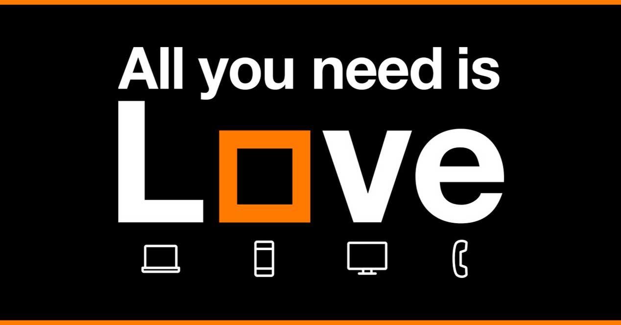 Tarifas Love de Orange: fibra, móvil y TV para tu hogar o negocio