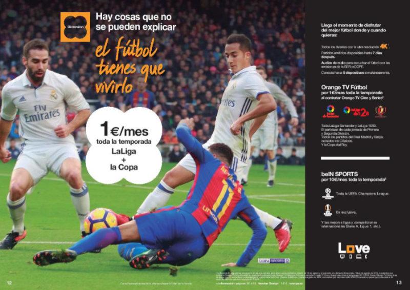 El mejor fútbol de esta temporada con Orange TV Fútbol por sólo 1€