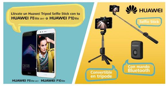 Consigue un palo selfie convertible en trípode con tu smartphone Huawei