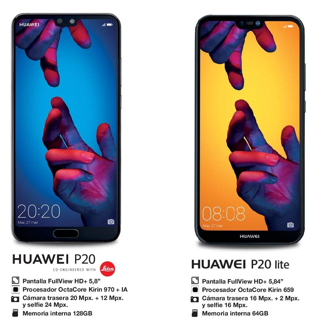 Huawei P20 y P20 Lite, directos a lo más alto de la gama media