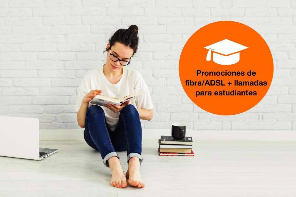 Ofertas de fibra/ADSL exclusivas para estudiantes