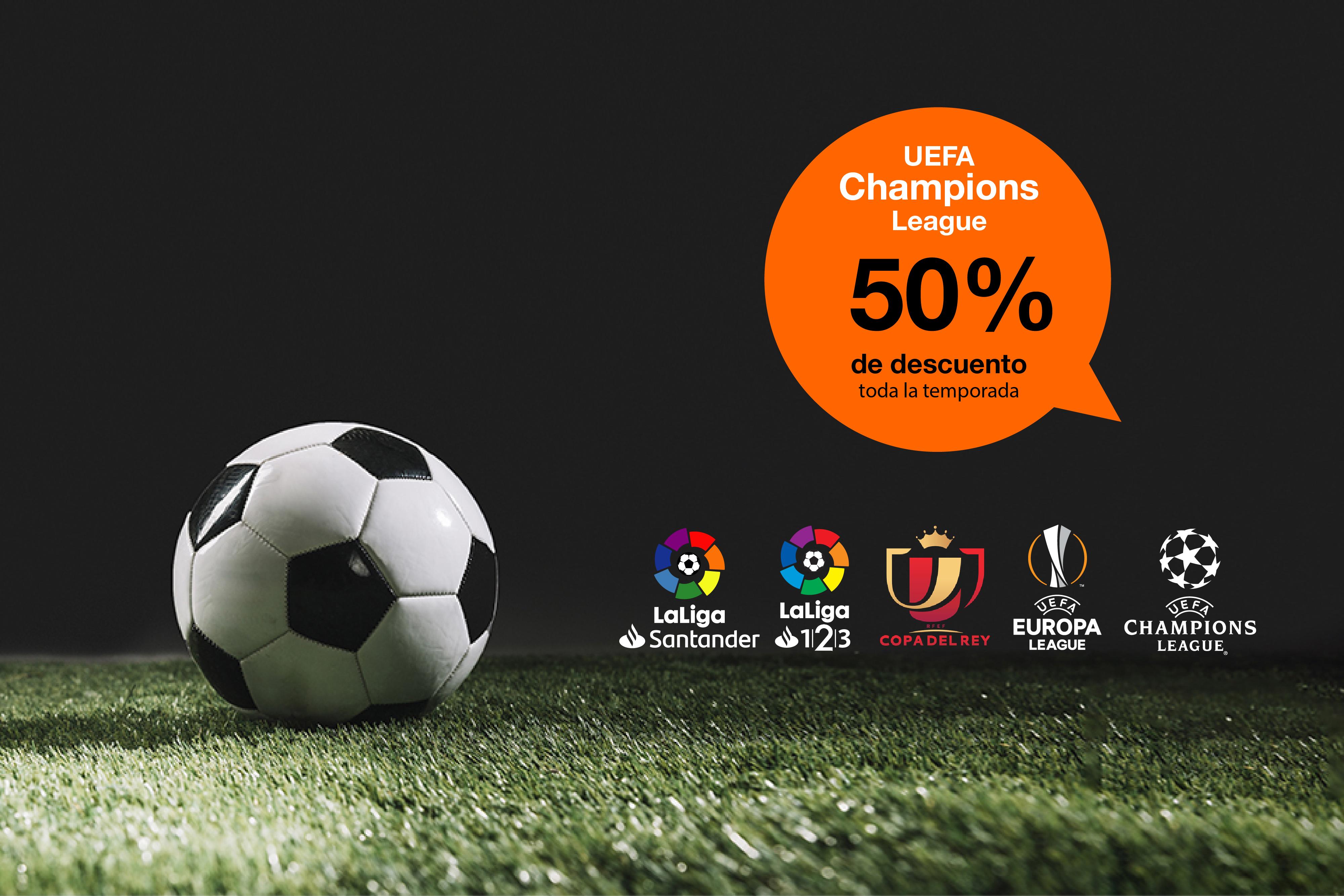 Toda la Champions al 50%
