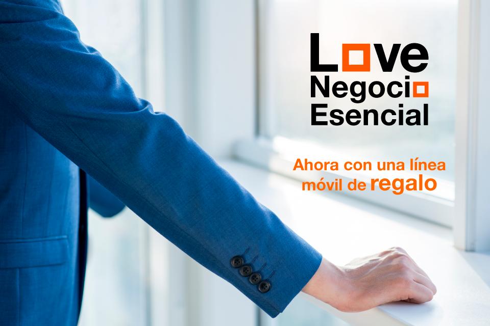 Love Negocio Esencial ahora con una línea móvil de regalo