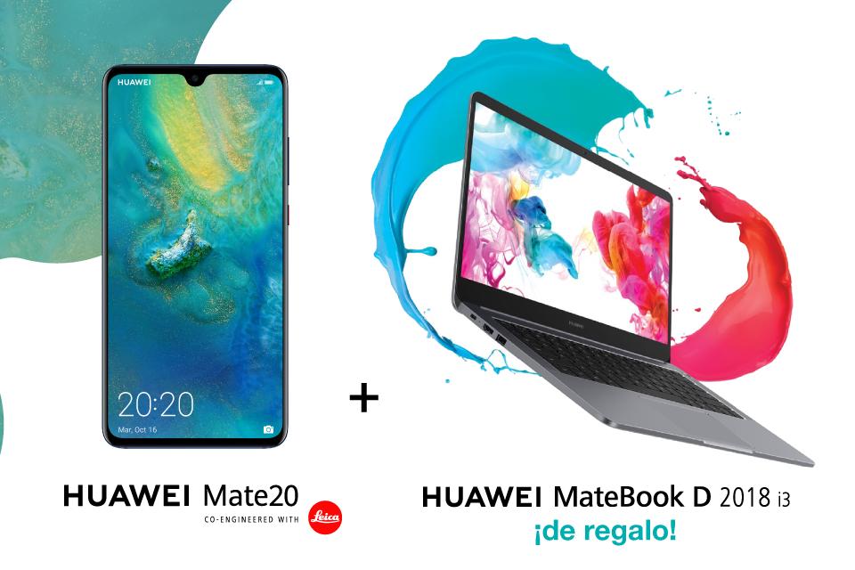 ¡Compra un Huawei Mate 20 y llévate de regalo un ordenador!