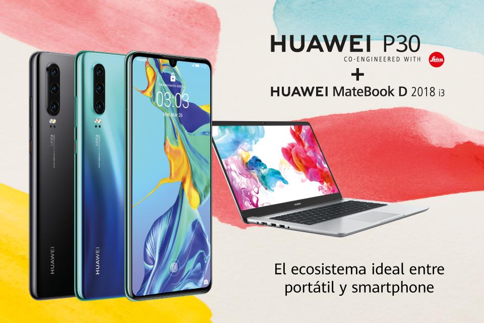 Huawei P30 + Huawei Matebook D 2018 i3