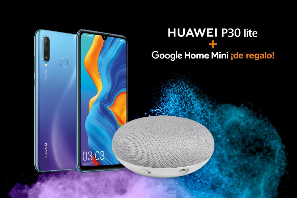 Huawei P30 Lite + Google Home Mini ¡de regalo!