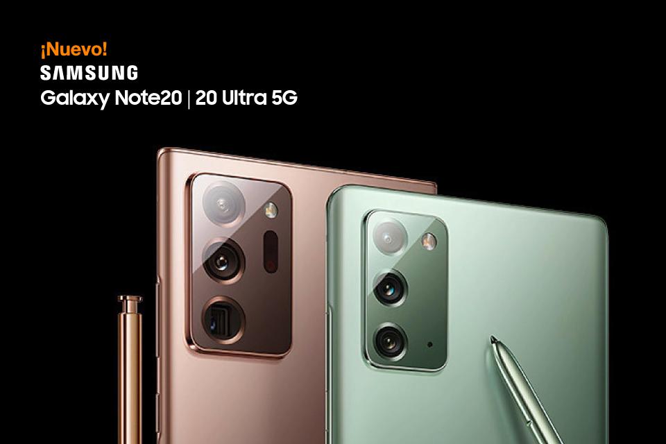 Descubre los nuevos Samsung Galaxy Note20